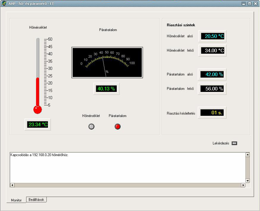 AHPWin Monitorozó program - Varicontroll